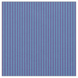 [ Thumbnail: Dark Slate Blue & Blue Colored Stripes Fabric ]