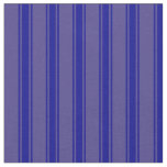 [ Thumbnail: Dark Slate Blue & Dark Blue Colored Pattern Fabric ]