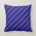[ Thumbnail: Dark Slate Blue & Dark Blue Colored Pattern Pillow ]