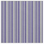 [ Thumbnail: Dark Slate Blue & Dark Gray Colored Pattern Fabric ]
