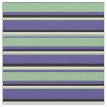 [ Thumbnail: Dark Slate Blue, Dark Sea Green, Beige & Black Fabric ]