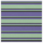 [ Thumbnail: Dark Slate Blue, Dark Sea Green & Black Pattern Fabric ]