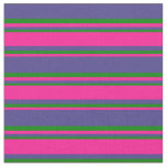 [ Thumbnail: Dark Slate Blue, Deep Pink, and Green Colored Fabric ]
