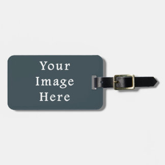 Dark Slate Blue Gray Color Grey Trend Template Bag Tag