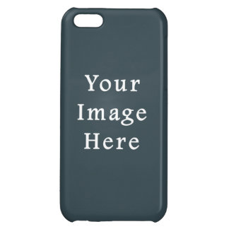 Dark Slate Blue Gray Color Grey Trend Template Case For iPhone 5C