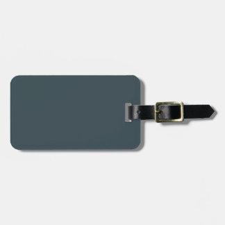 Dark Slate Blue Gray Color Grey Trend Template Bag Tags