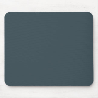 Dark Slate Blue Gray Color Grey Trend Template Mouse Pad