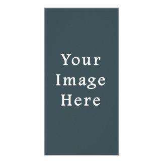 Dark Slate Blue Gray Color Grey Trend Template Photo Card Template