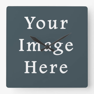Dark Slate Blue Gray Color Grey Trend Template Square Wall Clock