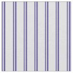 [ Thumbnail: Dark Slate Blue & Lavender Colored Lines Pattern Fabric ]