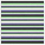 [ Thumbnail: Dark Slate Blue, Light Cyan, Light Green & Black Fabric ]