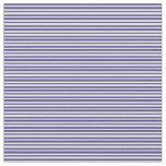 [ Thumbnail: Dark Slate Blue & Light Cyan Stripes Pattern Fabric ]