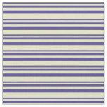 [ Thumbnail: Dark Slate Blue & Pale Goldenrod Colored Pattern Fabric ]