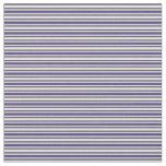 [ Thumbnail: Dark Slate Blue & Pale Goldenrod Colored Stripes Fabric ]