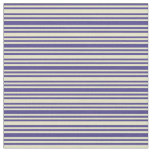 [ Thumbnail: Dark Slate Blue & Pale Goldenrod Colored Stripes Fabric ]
