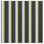 [ Thumbnail: Dark Slate Blue, Plum, Mint Cream, Green & Black Fabric ]