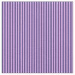 [ Thumbnail: Dark Slate Blue & Plum Stripes Fabric ]