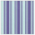 [ Thumbnail: Dark Slate Blue & Turquoise Colored Stripes Fabric ]