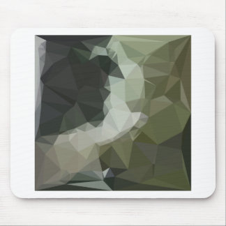 Dark Slate Gray Abstract Low Polygon Background Mouse Pad