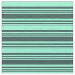 [ Thumbnail: Dark Slate Gray and Aquamarine Stripes Fabric ]