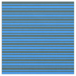 [ Thumbnail: Dark Slate Gray and Blue Lines Pattern Fabric ]