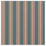 [ Thumbnail: Dark Slate Gray and Dark Salmon Colored Pattern Fabric ]