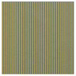 [ Thumbnail: Dark Slate Gray and Goldenrod Colored Lines Fabric ]