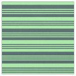 [ Thumbnail: Dark Slate Gray and Green Pattern Fabric ]