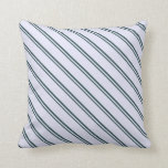 [ Thumbnail: Dark Slate Gray and Lavender Lines Throw Pillow ]