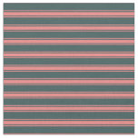 [ Thumbnail: Dark Slate Gray and Light Coral Colored Pattern Fabric ]