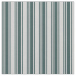 [ Thumbnail: Dark Slate Gray and Light Gray Colored Stripes Fabric ]