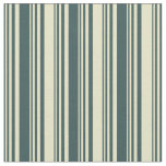 [ Thumbnail: Dark Slate Gray and Pale Goldenrod Stripes Fabric ]