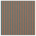 [ Thumbnail: Dark Slate Gray and Red Lined/Striped Pattern Fabric ]
