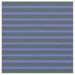 [ Thumbnail: Dark Slate Gray and Slate Blue Colored Stripes Fabric ]