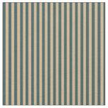 [ Thumbnail: Dark Slate Gray and Tan Colored Stripes Fabric ]