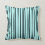 [ Thumbnail: Dark Slate Gray and Turquoise Colored Pattern Throw Pillow ]