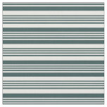 [ Thumbnail: Dark Slate Gray and White Colored Lines Fabric ]