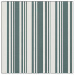 [ Thumbnail: Dark Slate Gray and White Lined/Striped Pattern Fabric ]
