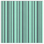 [ Thumbnail: Dark Slate Gray & Aquamarine Colored Lines Fabric ]