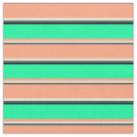 [ Thumbnail: Dark Slate Gray, Beige, Light Salmon, Green, Black Fabric ]