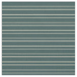 [ Thumbnail: Dark Slate Gray & Beige Pattern of Stripes Fabric ]