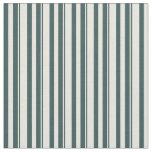 [ Thumbnail: Dark Slate Gray & Beige Stripes/Lines Pattern Fabric ]