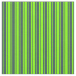 [ Thumbnail: Dark Slate Gray & Chartreuse Colored Lines Fabric ]