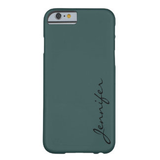 Dark slate gray color background barely there iPhone 6 case