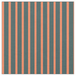 [ Thumbnail: Dark Slate Gray & Coral Stripes/Lines Pattern Fabric ]