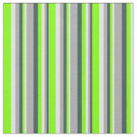 [ Thumbnail: Dark Slate Gray, Dark Gray, Lavender & Chartreuse Fabric ]