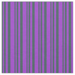 [ Thumbnail: Dark Slate Gray & Dark Orchid Colored Pattern Fabric ]