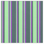 [ Thumbnail: Dark Slate Gray, Green, and Dark Orchid Colored Fabric ]