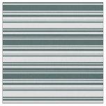 [ Thumbnail: Dark Slate Gray & Lavender Stripes Fabric ]