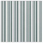[ Thumbnail: Dark Slate Gray & Lavender Stripes/Lines Pattern Fabric ]